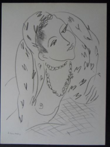 Lot 45 - Henri MATISSE (1869-1954) (after) - Naked woman with necklace - Lithograph from a [...]