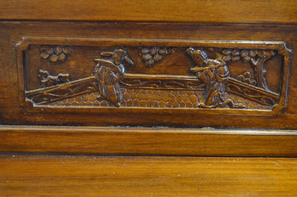 Lot 52 - An early 20th century Chinese softwood dowry chest,