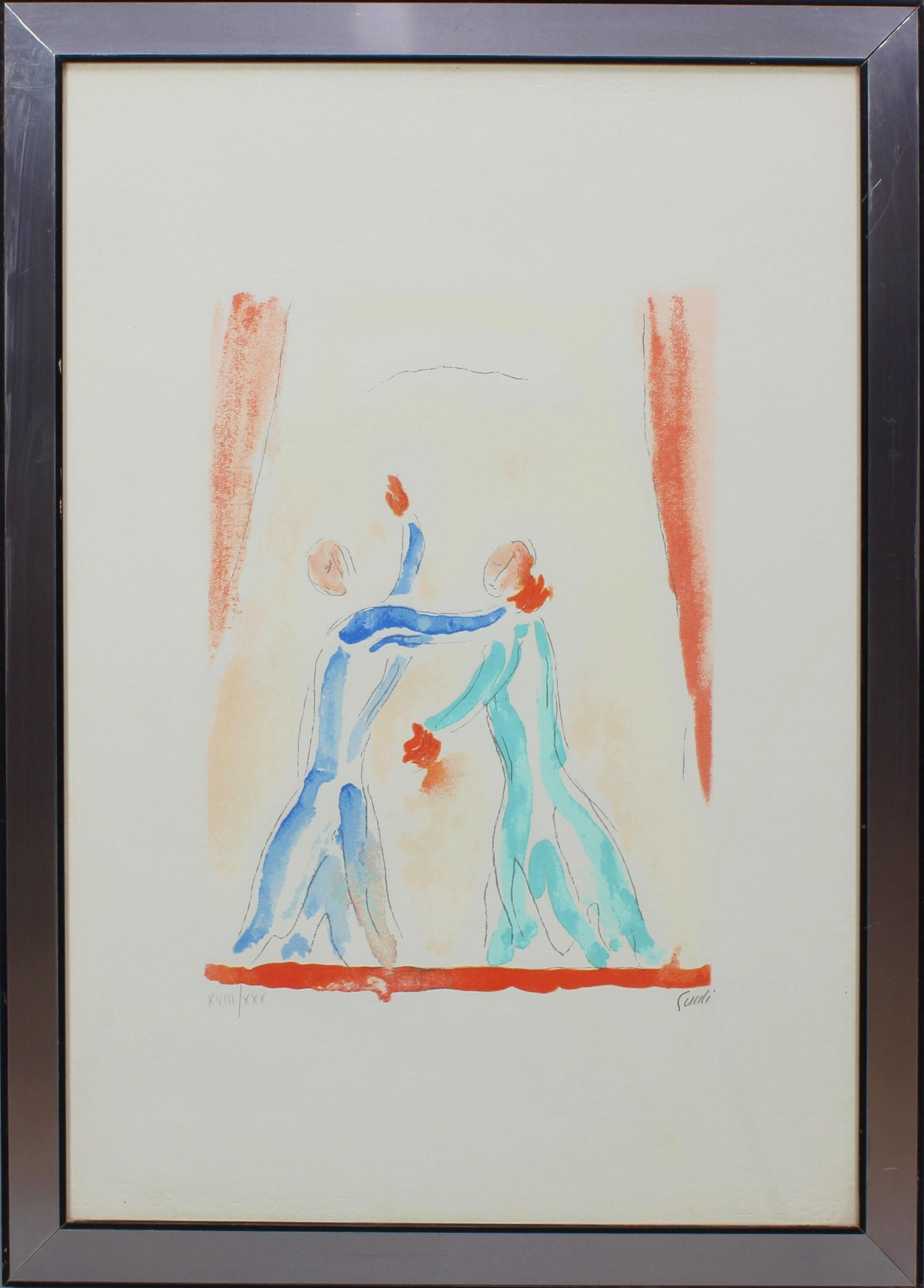 Lot 13 - Ballerini, grafica XVIII/XXX, firmata Guidi, cm. 50x70