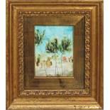 Paesaggio, a firma di Cristina, olio cm. 14x18