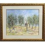Casa nel bosco, a firma Nino Consolaro, olio cm. 48x40