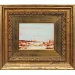 Paesaggio, a firma di Cristina, tecnica mista, cm. 20x14