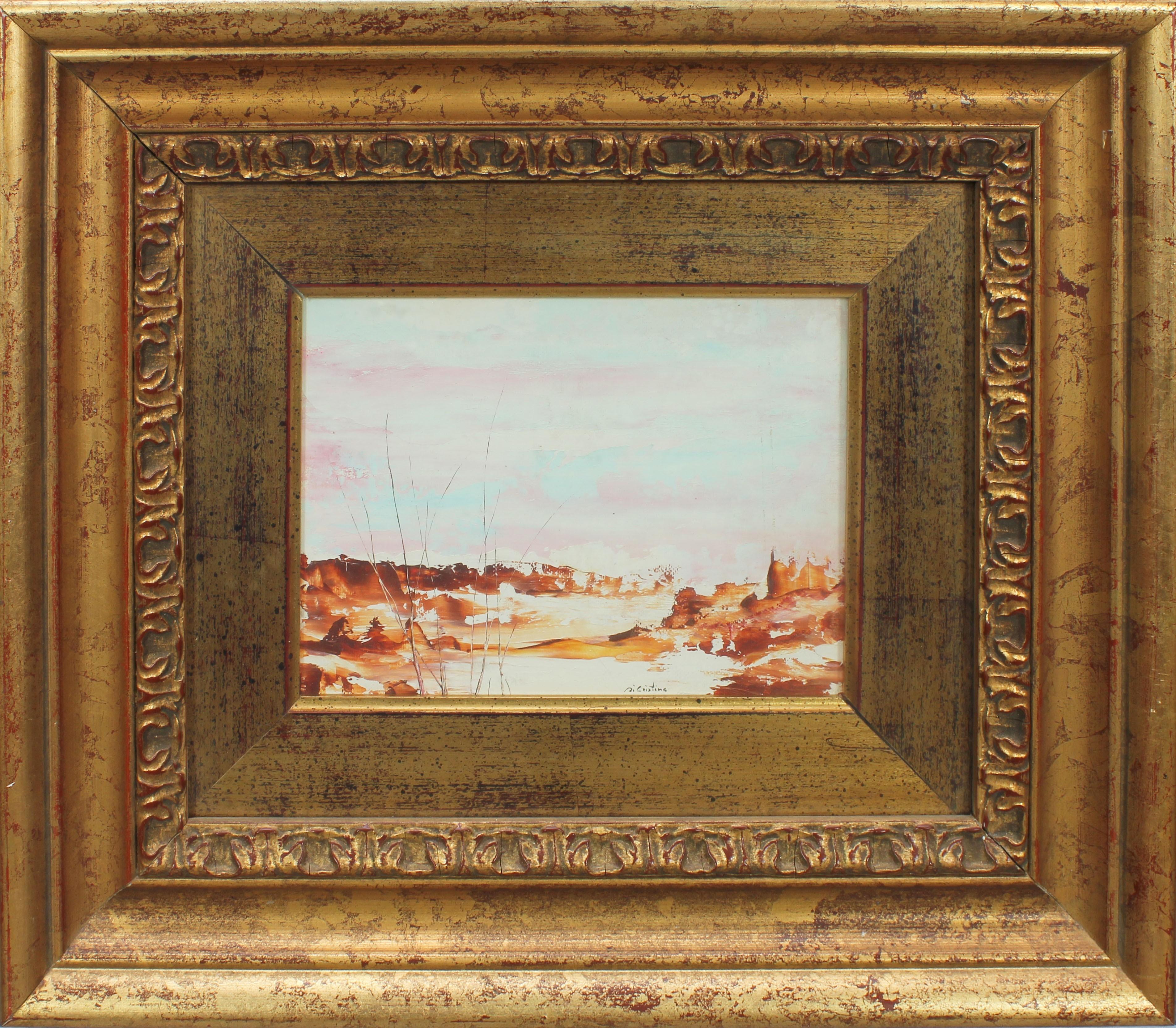 Lot 51 - Paesaggio, a firma di Cristina, tecnica mista, cm. 20x14
