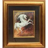 Paesaggio, a firma di Cristina, tecnica mista cm. 20x14