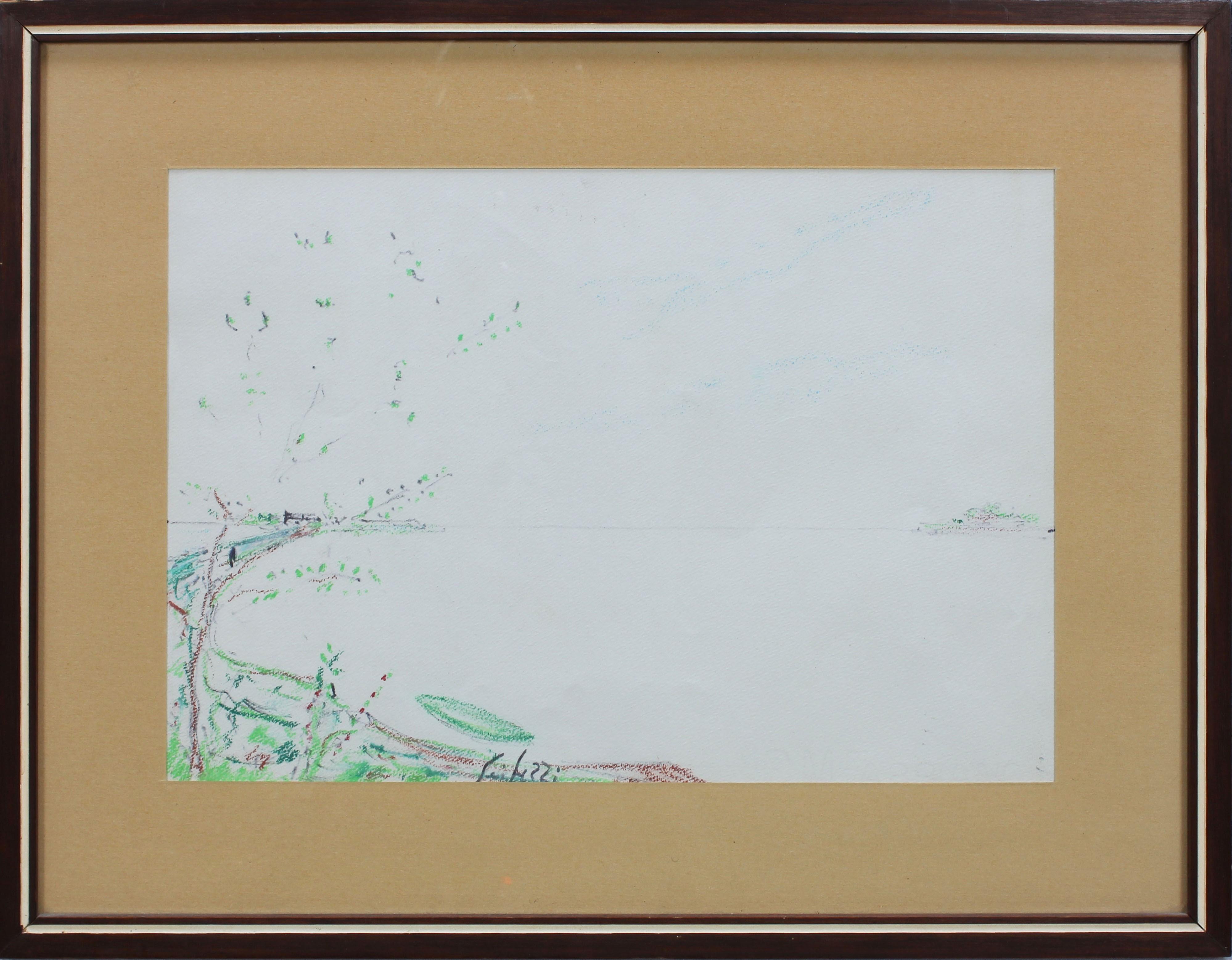 Lot 54 - Paesaggio a firma Seibezzi, pastello, cm. 31,5x22