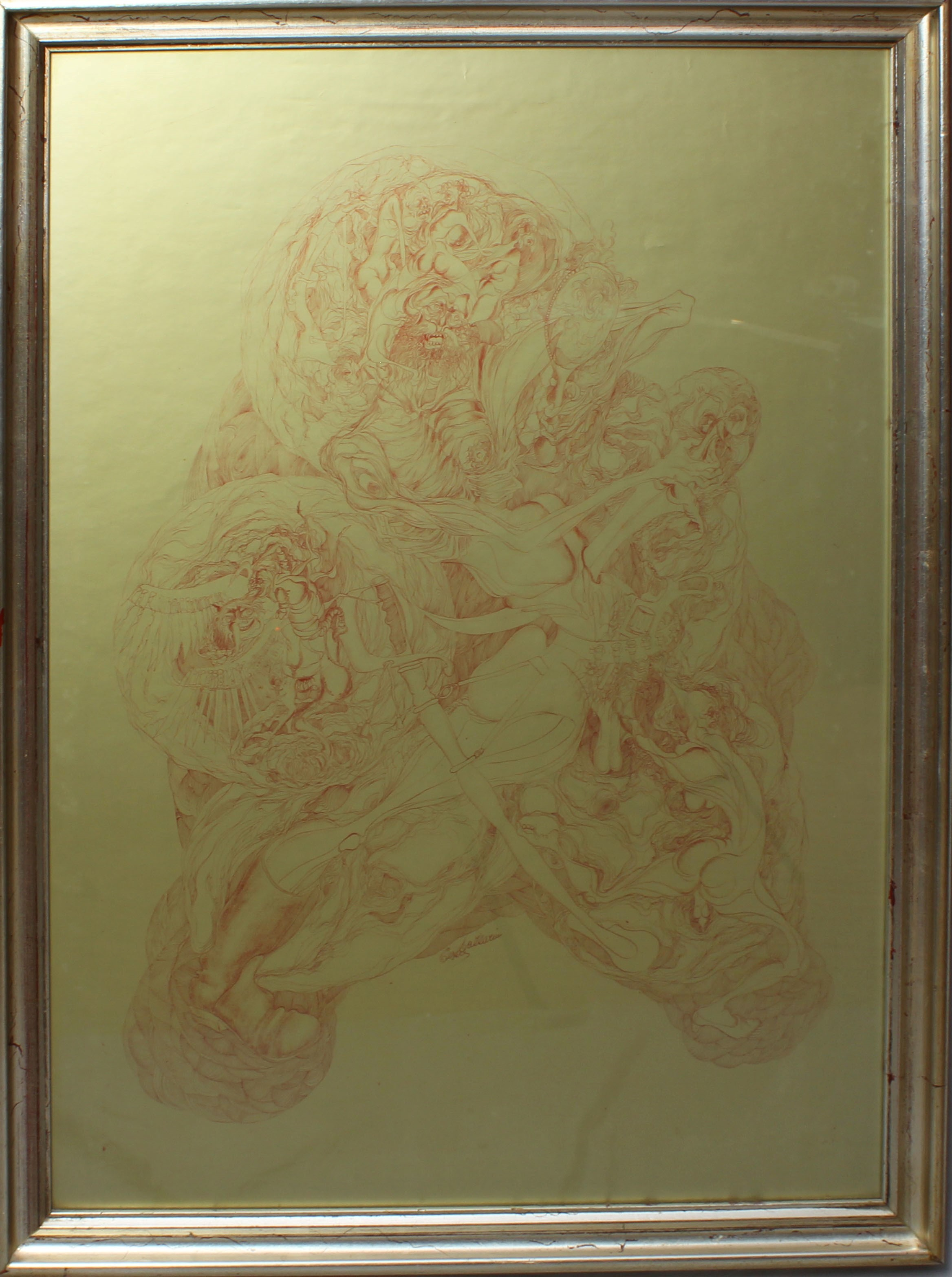 Lot 5 - Astratto, grafica a firma Lazzarini, cm. 60x85