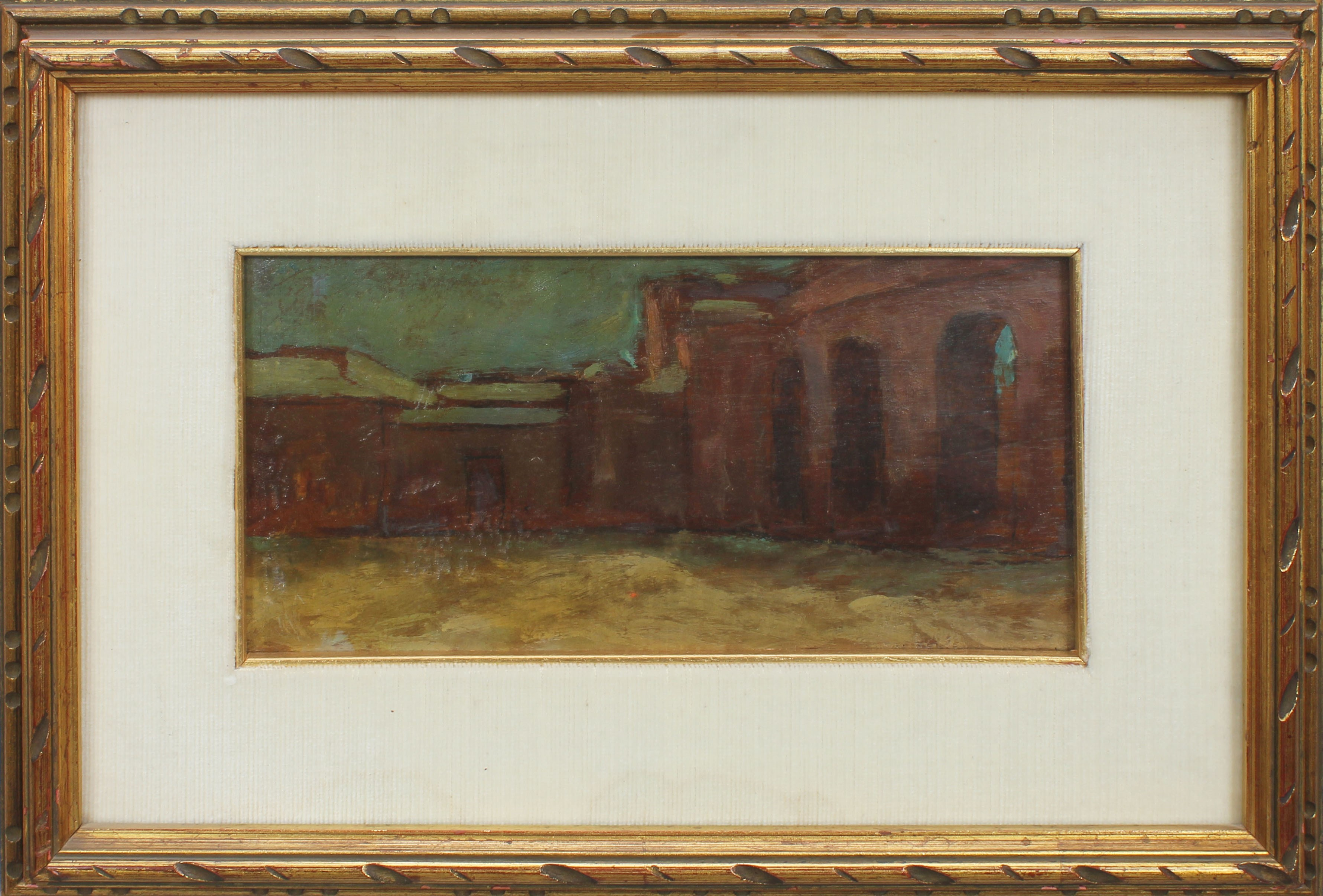 Lot 55 - Palazzo del Te, Mantova, olio su tela, cm. 30x14 anni 40/50