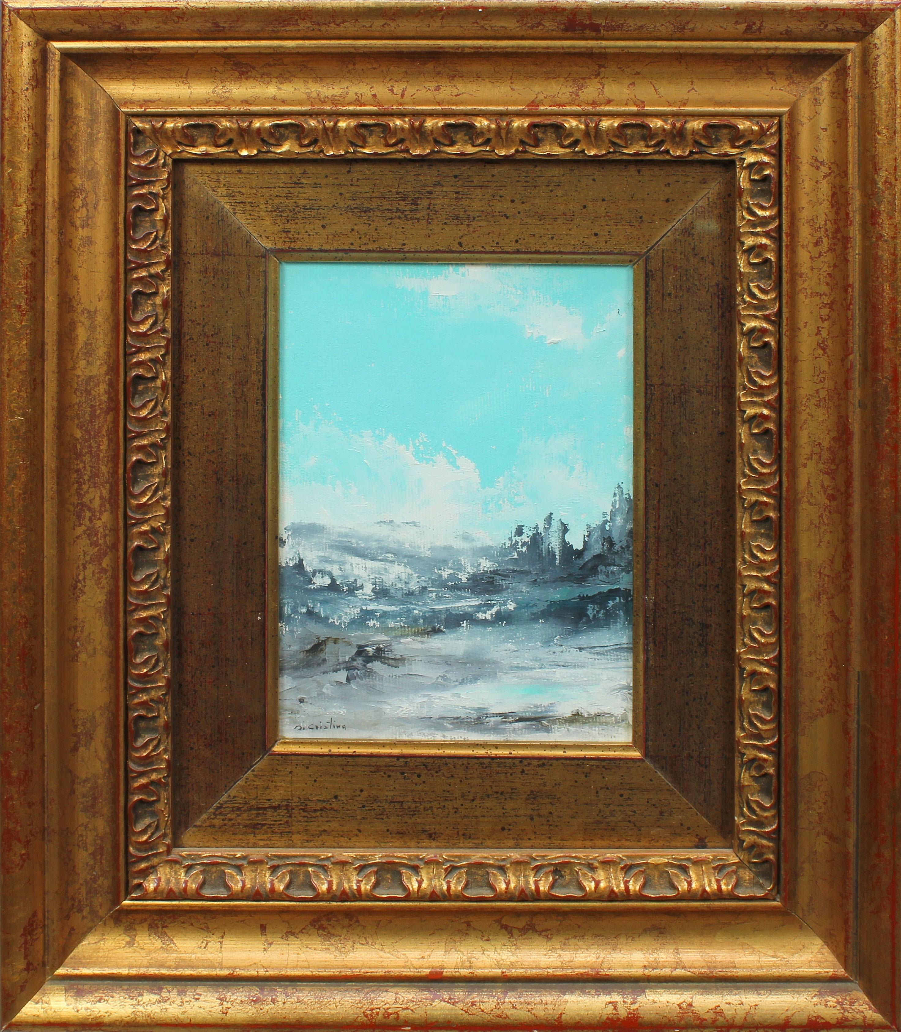 Lot 27 - Paesaggio montano, a firma Di Cristina, cm. 14x20