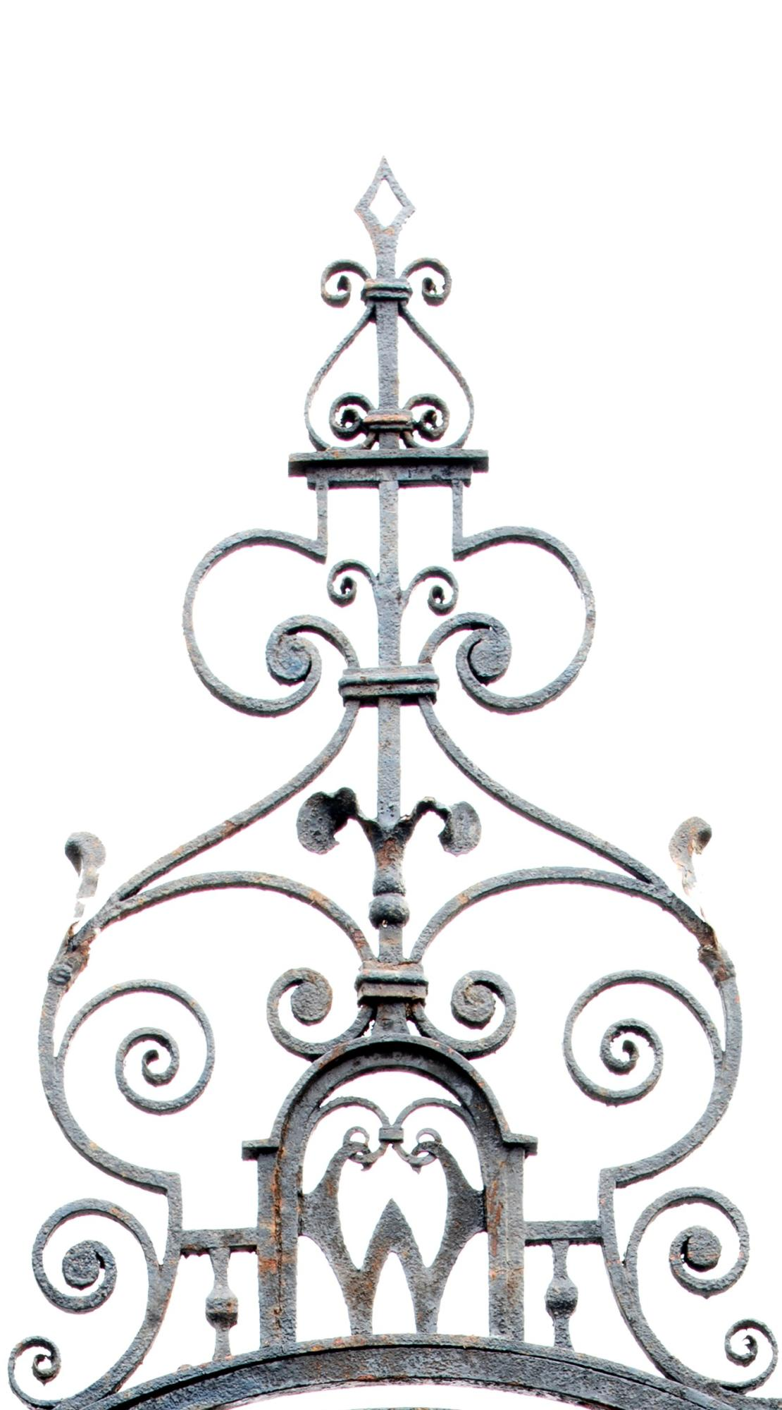 Lot 206 - Architectural/Gates: An impressive Georgian style wrought entranceway last quarter 19th century with