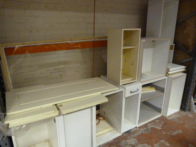 Range Of White And Light Oak Kitchen Carcasses Including
