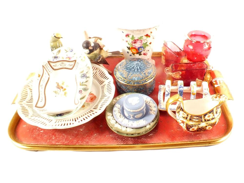 Lot 5 - Royal Crown Derby Japan pattern cream jug,
