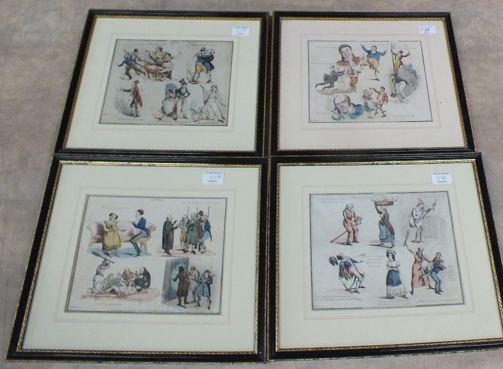 Lot 27 - A set of four coloured prints after Alken, Songs,