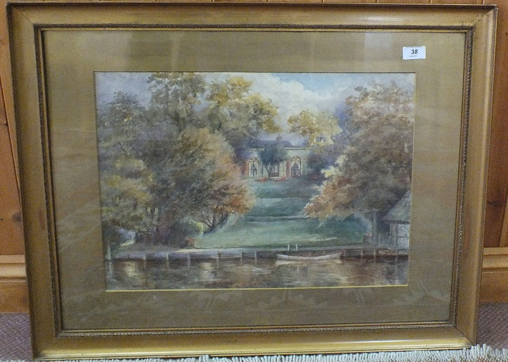 Lot 38 - A signed watercolour of St Peters House, Beccles,