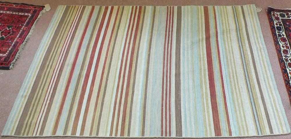 Lot 51 - A Turkish flat weave striped rug,