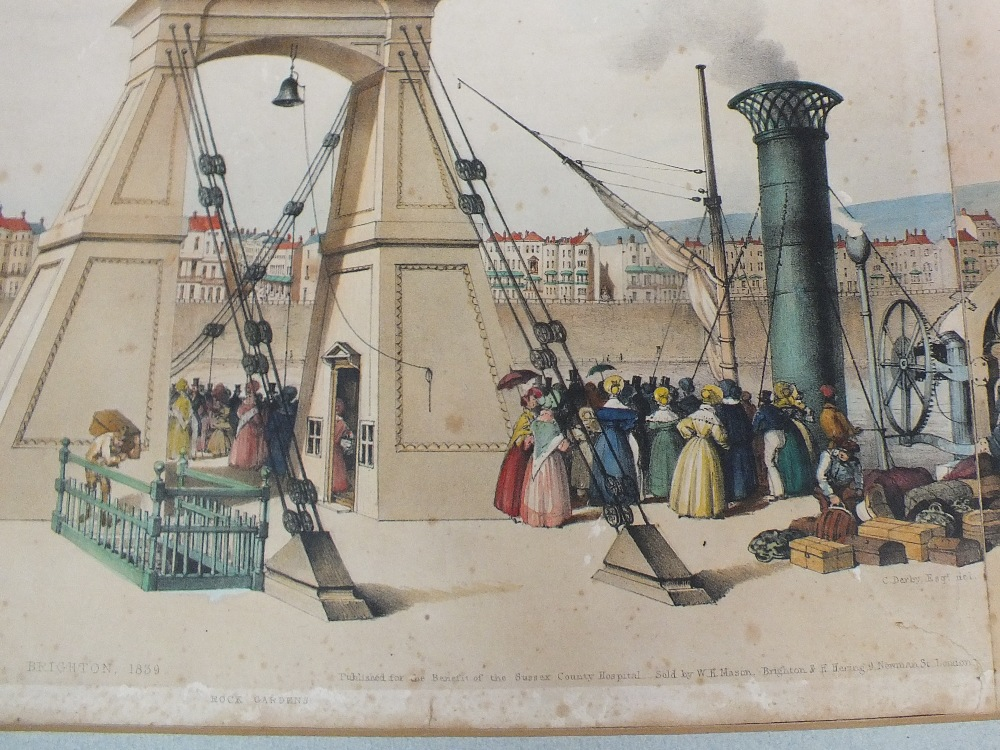 Lot 30 - An unframed 1839 coloured panoramic view of Brighton from The New Steine,