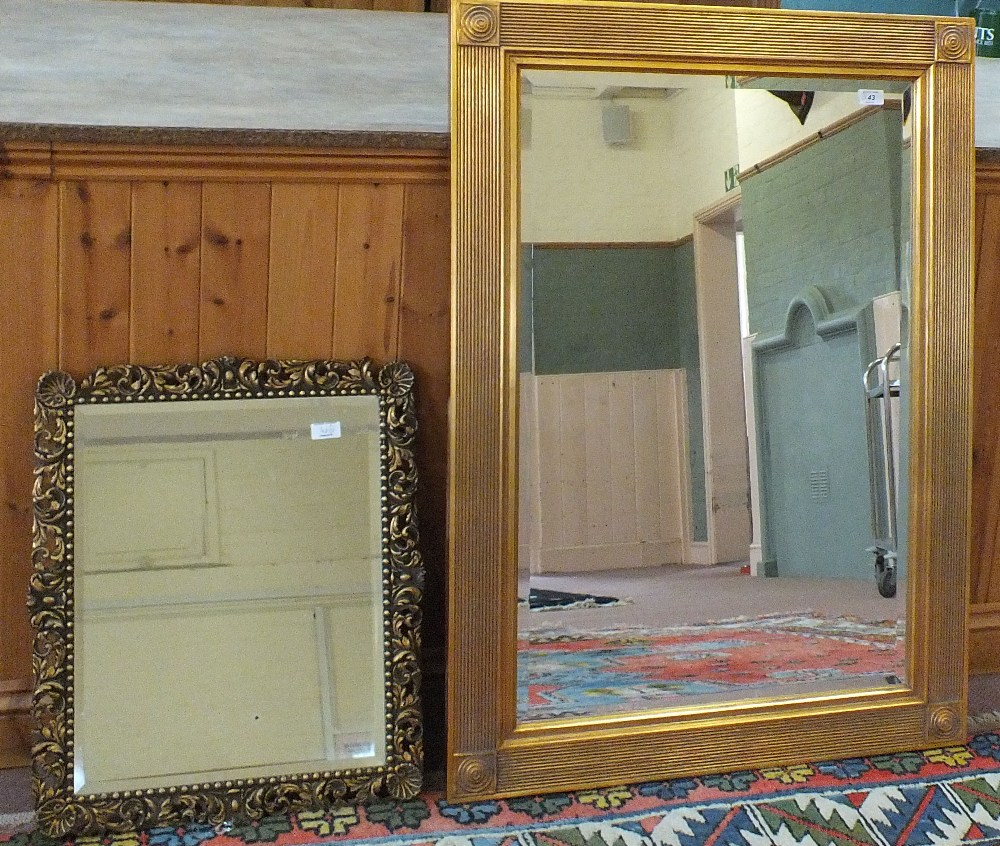 Lot 43 - Two gilt wall mirrors