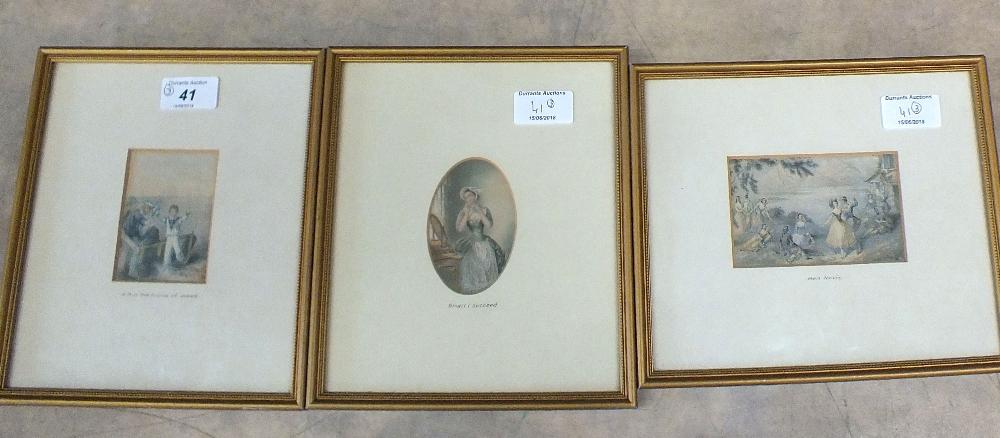 Lot 41 - Three Victorian Baxter prints, H.R.H.