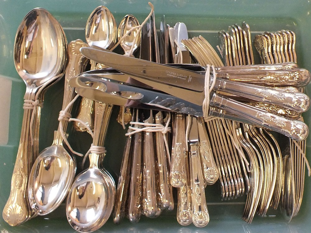 Lot 4 - A silver plated eight setting cutlery set