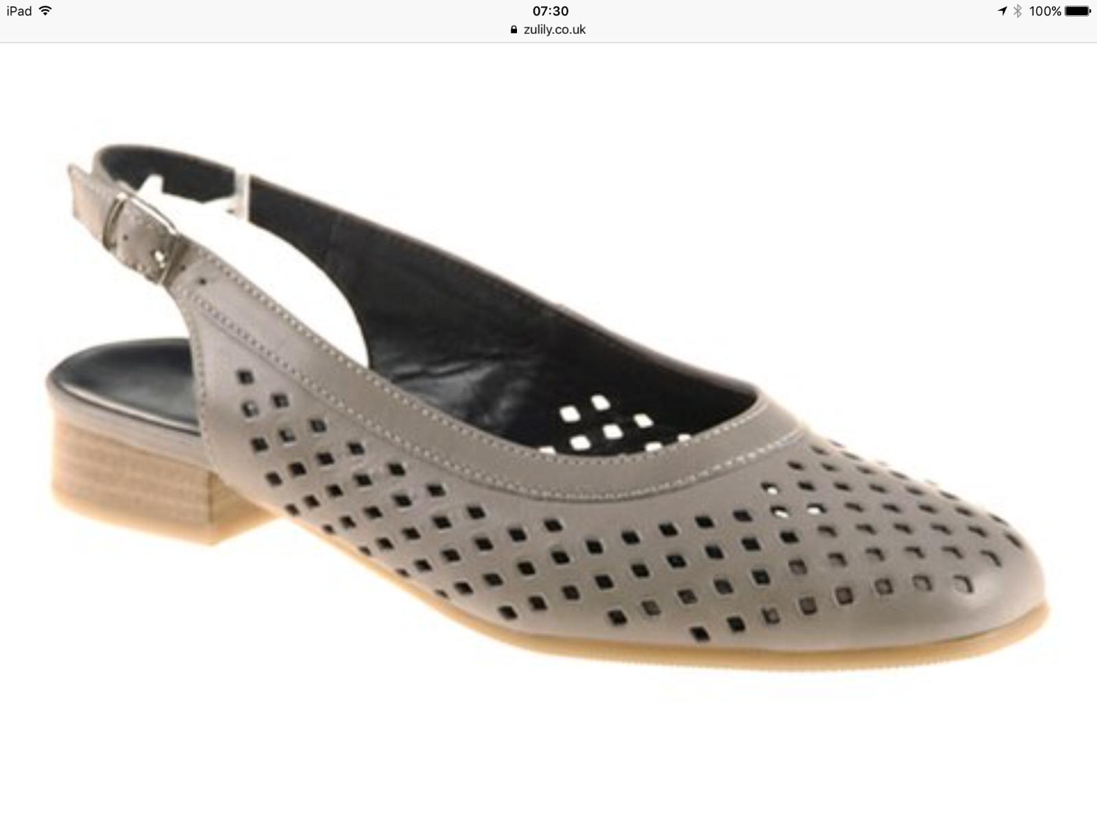 Lot 33 - Ara Grey Bindi Leather Slingback Sandal, Size Us 7 Uk 4.5 (New With Box) [Ref: 36526835- C-002]