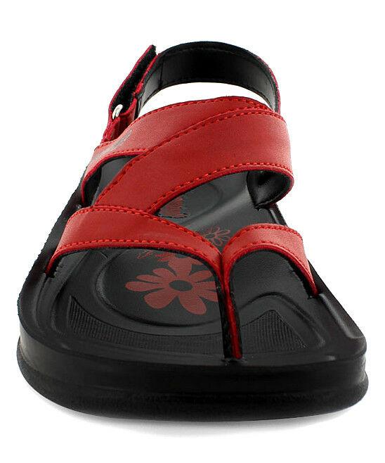 Lot 18 - Aerosoft Red & Black Deke Sandal (Uk Size:3.5/Us Size:6) (New With Box) [Ref: 48556461-B-004]