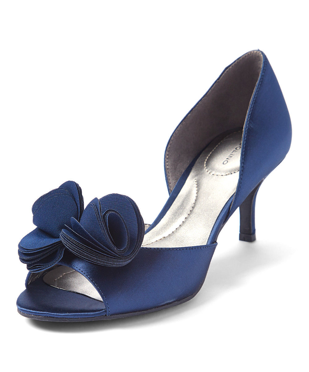 Lot 47 - Bandolino Navy Crystal Satin Norcia Pump (Uk Size:7/Us Size:9.5) (New With Box) [Ref: 56180668-D-