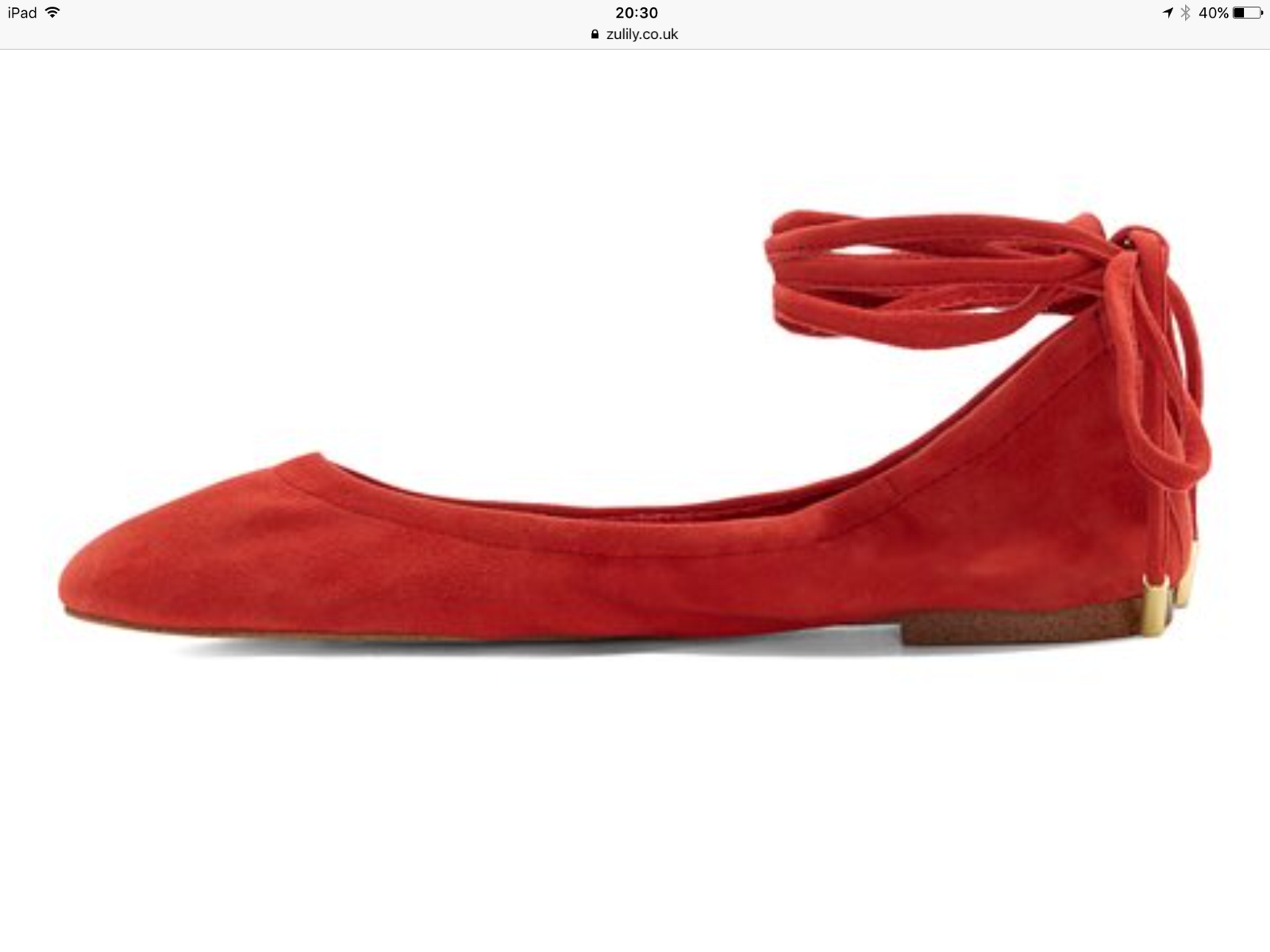 Lot 2 - 1.State By Vince Camuto Persimmon Skylaar Suede Flat, Size Uk 4.5 Us 6.5 (New With Box) [Ref: