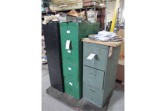 LOT: (3) ASSORTED HASKELL FILE CABINETS (NO CONTENTS)