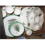 Collection of Christmas plates, dishes & cups