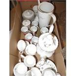 Box of ceramics to include royal Albert