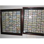 2x Double sided cigarette cards (Aircraft)