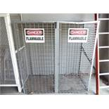 """Flammable gas cylinder storage cage 60 x 63"""""""""""