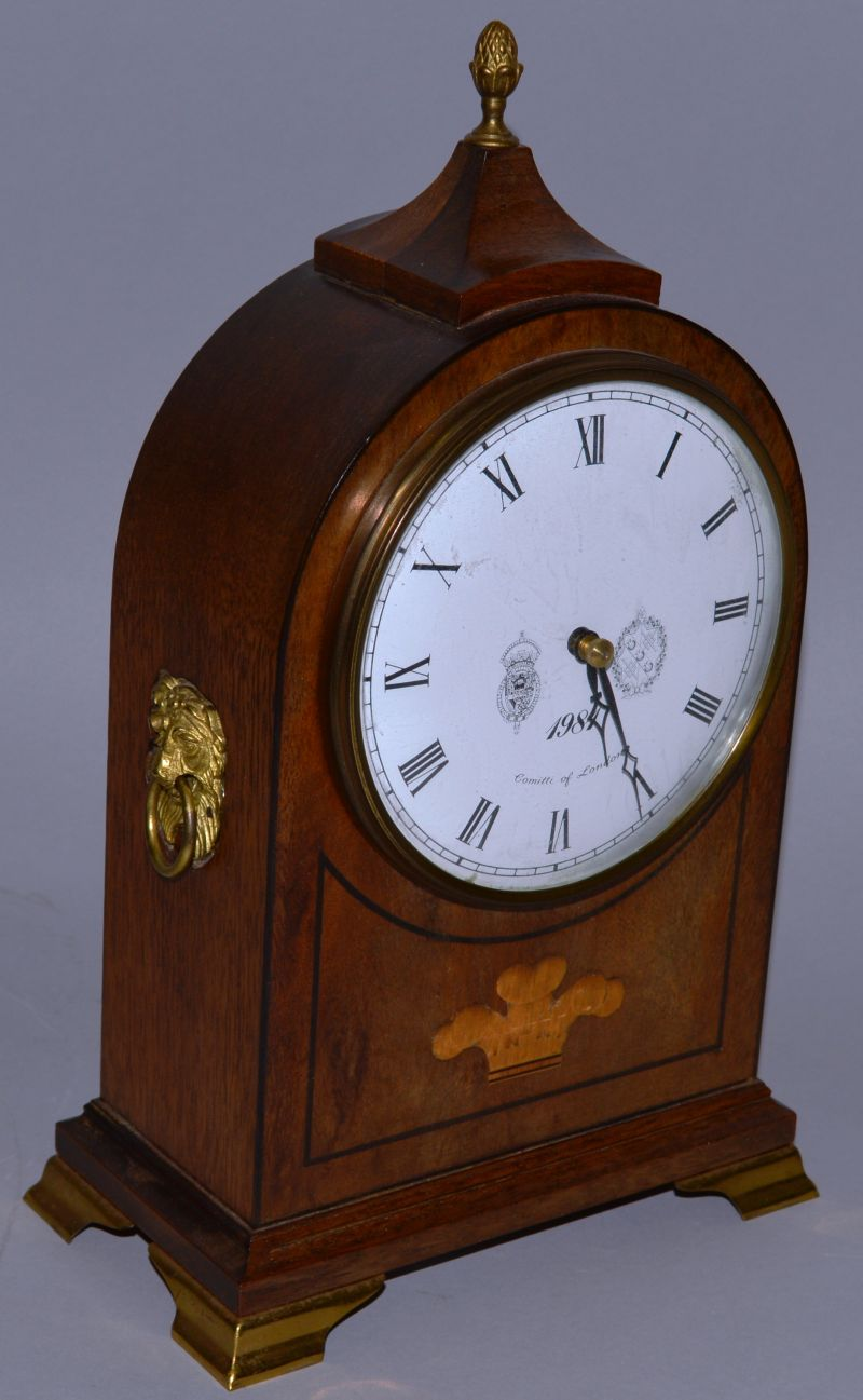 A good inlaid georgian style mahogany inlaid mantle clock comitti lot 1331 a good inlaid georgian style mahogany inlaid mantle clock comitti of london amipublicfo Images