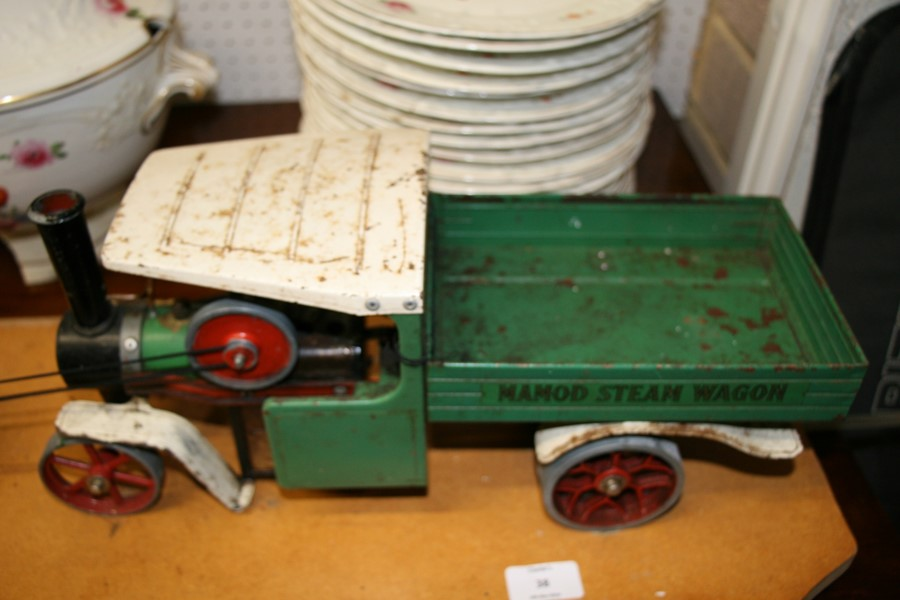 Lot 38 - A Mamod steam wagon, 43cms (17ins) long.