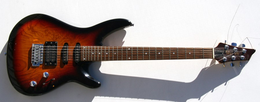 Lot 42 - A Wesley six-string electric guitar; together with a Vantage six-string electric guitar (2).