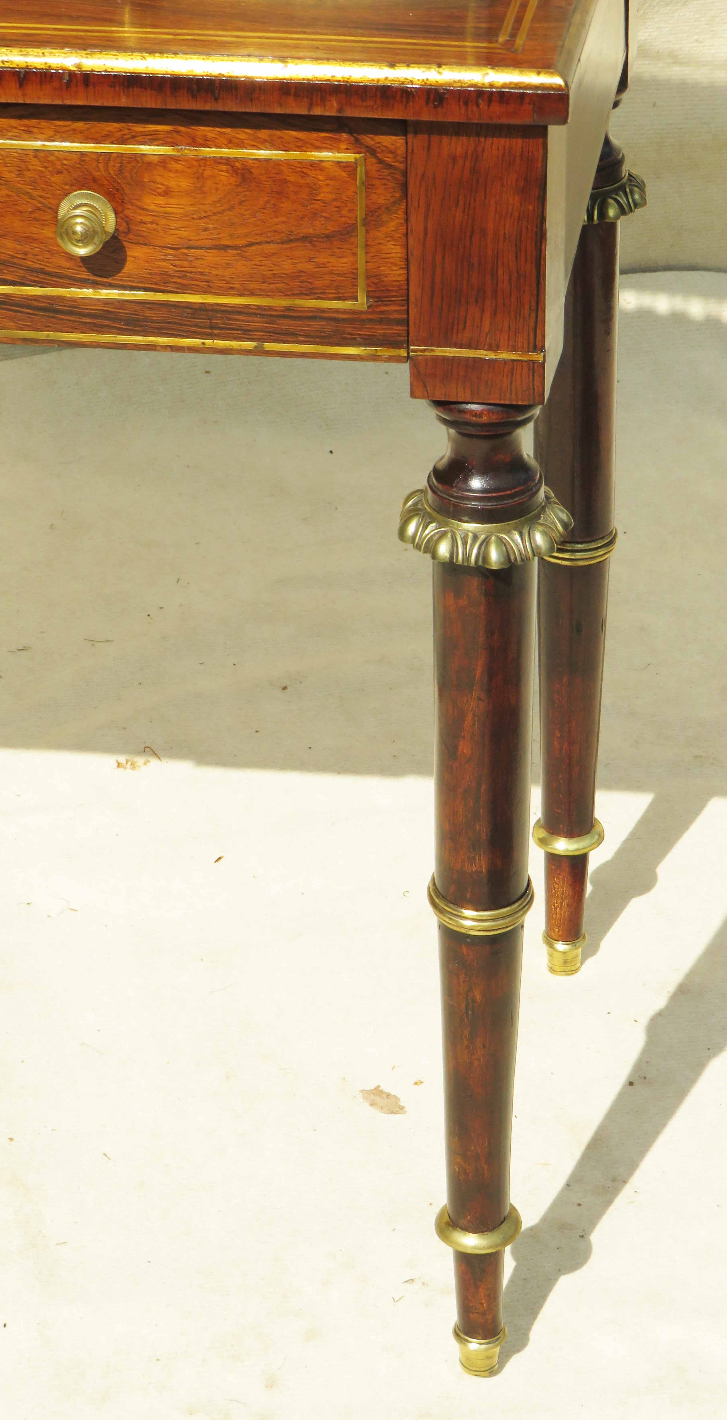 Superb quality Regency period early 19th Century rosewood bonheur du jour - Image 5 of 7