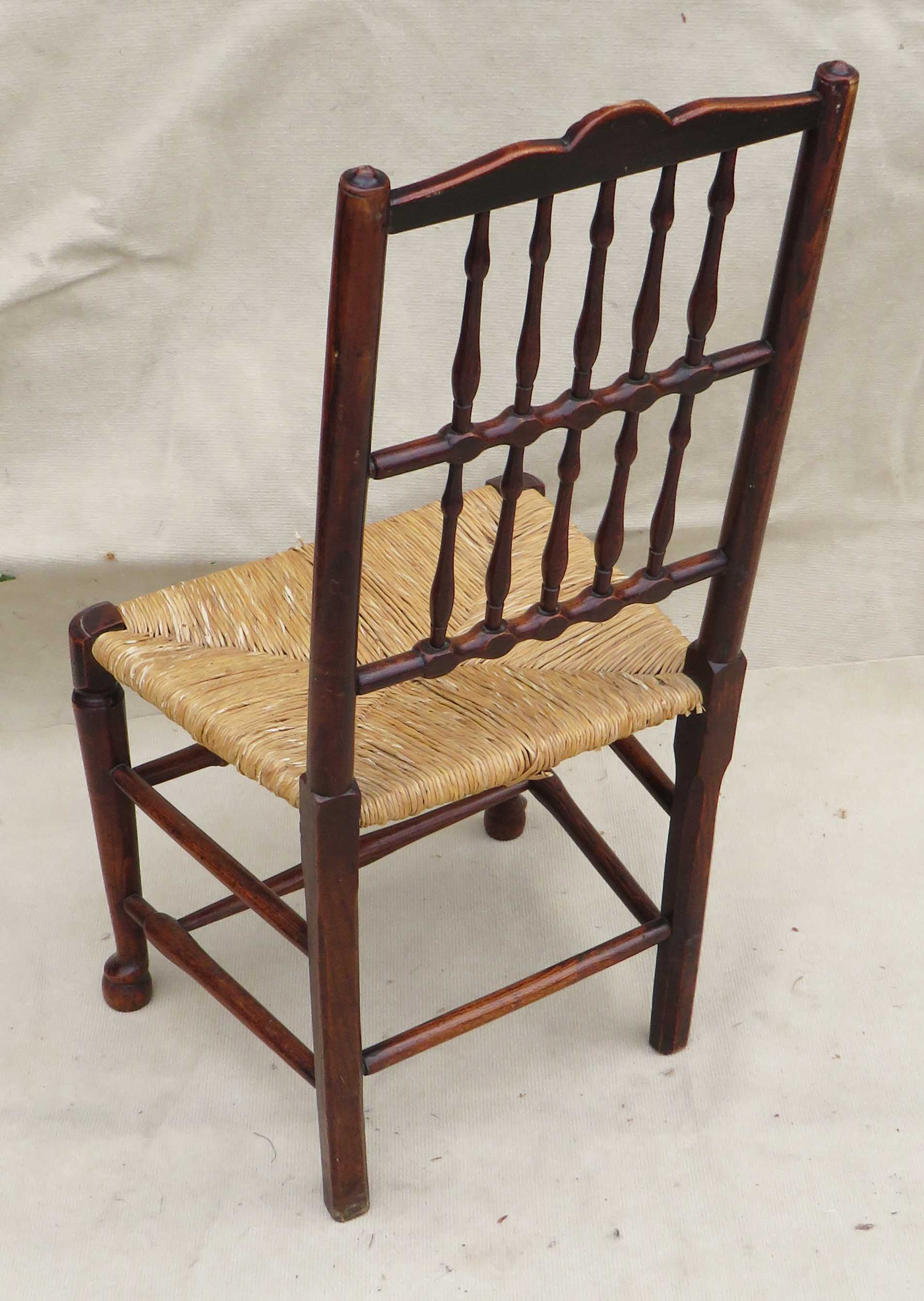 Matched Set Of 8 Spindle Back Dining Chairs, Early 19th Century - Image 12 of 12