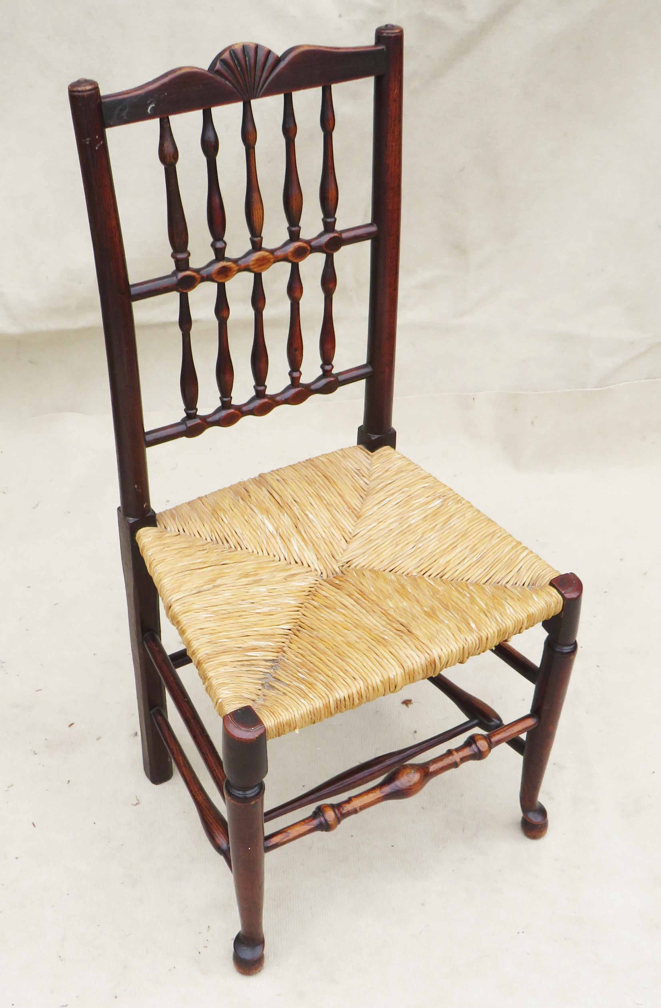 Matched Set Of 8 Spindle Back Dining Chairs, Early 19th Century - Image 6 of 12