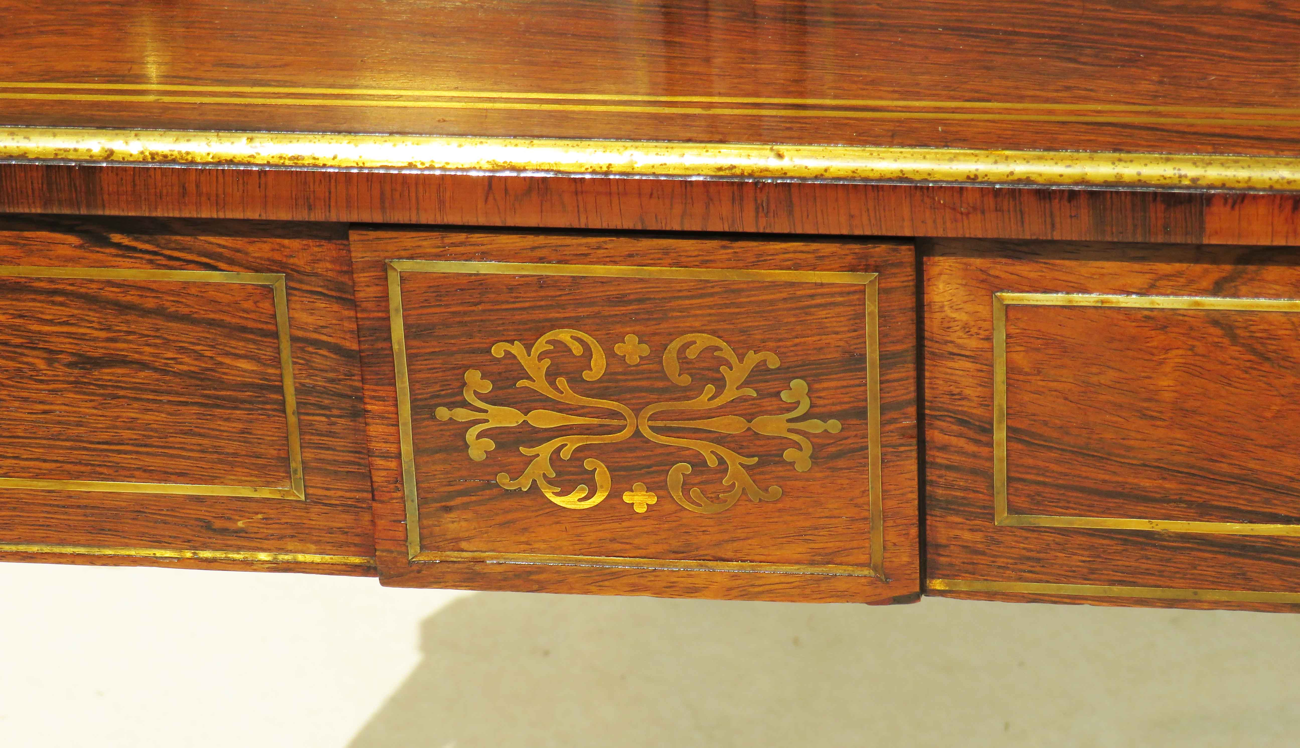 Superb quality Regency period early 19th Century rosewood bonheur du jour - Image 4 of 7