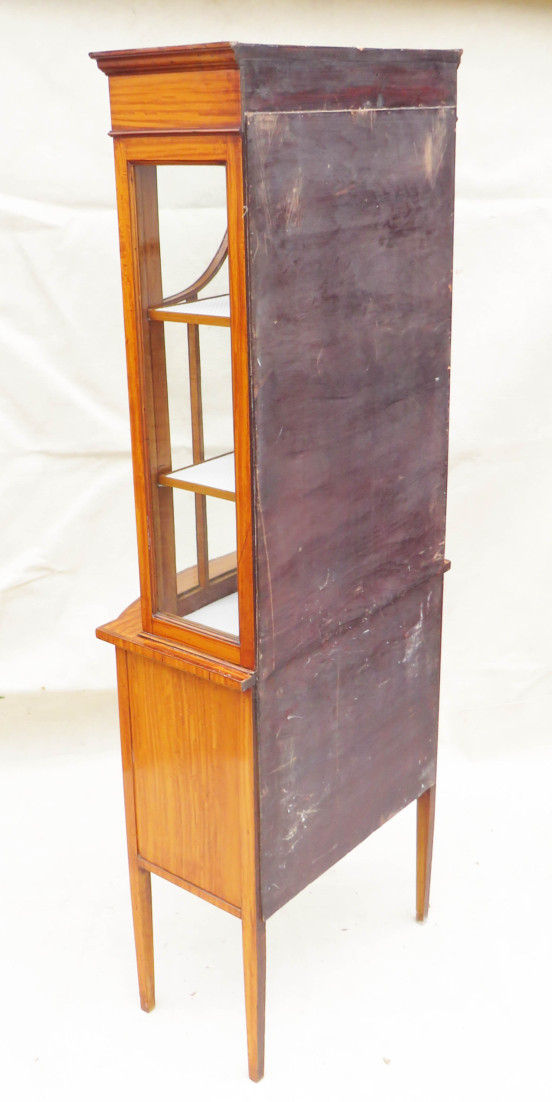 Satinwood China Display Cabinet, Late 19th Century - Image 10 of 10