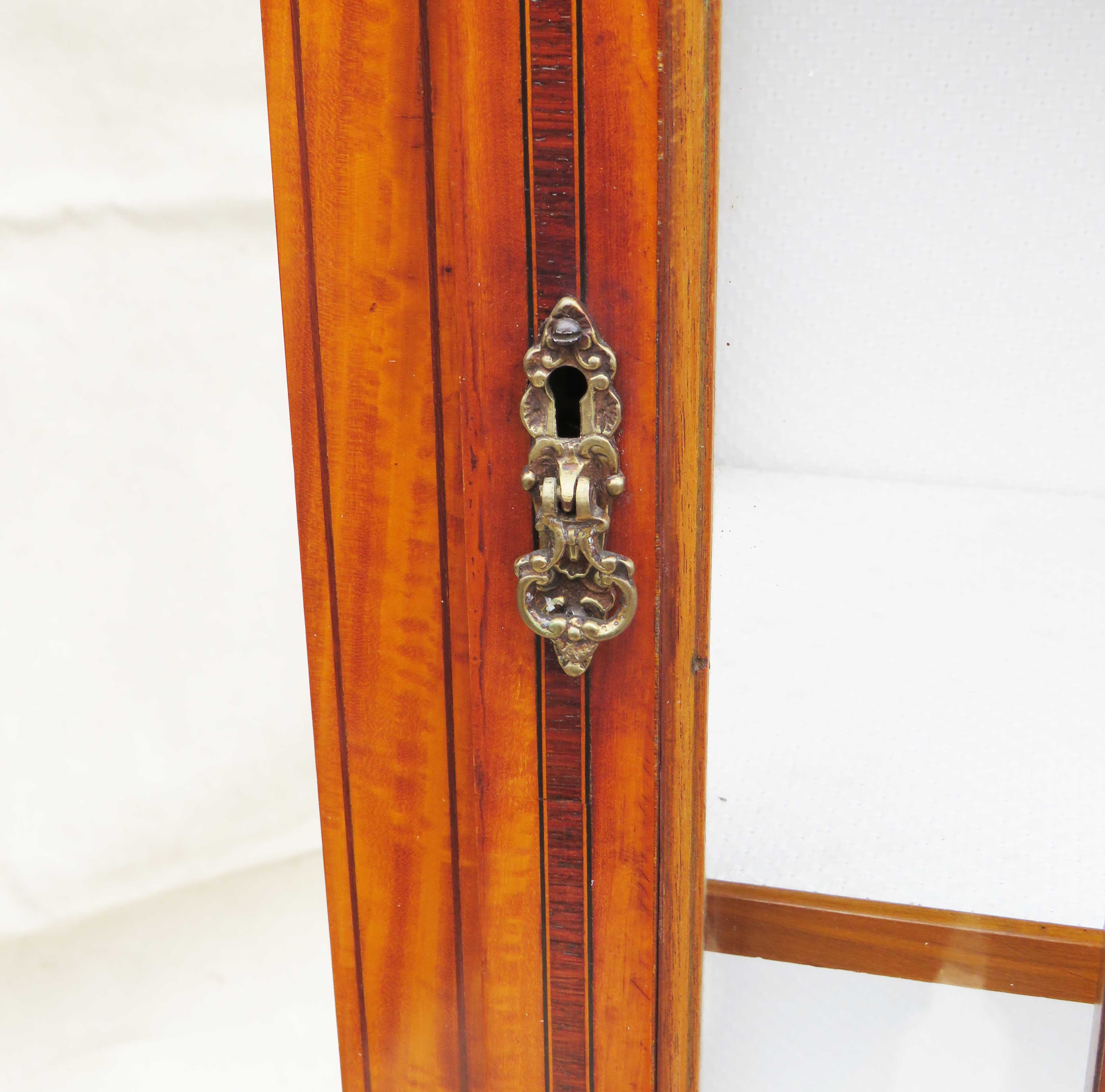 Satinwood China Display Cabinet, Late 19th Century - Image 3 of 10