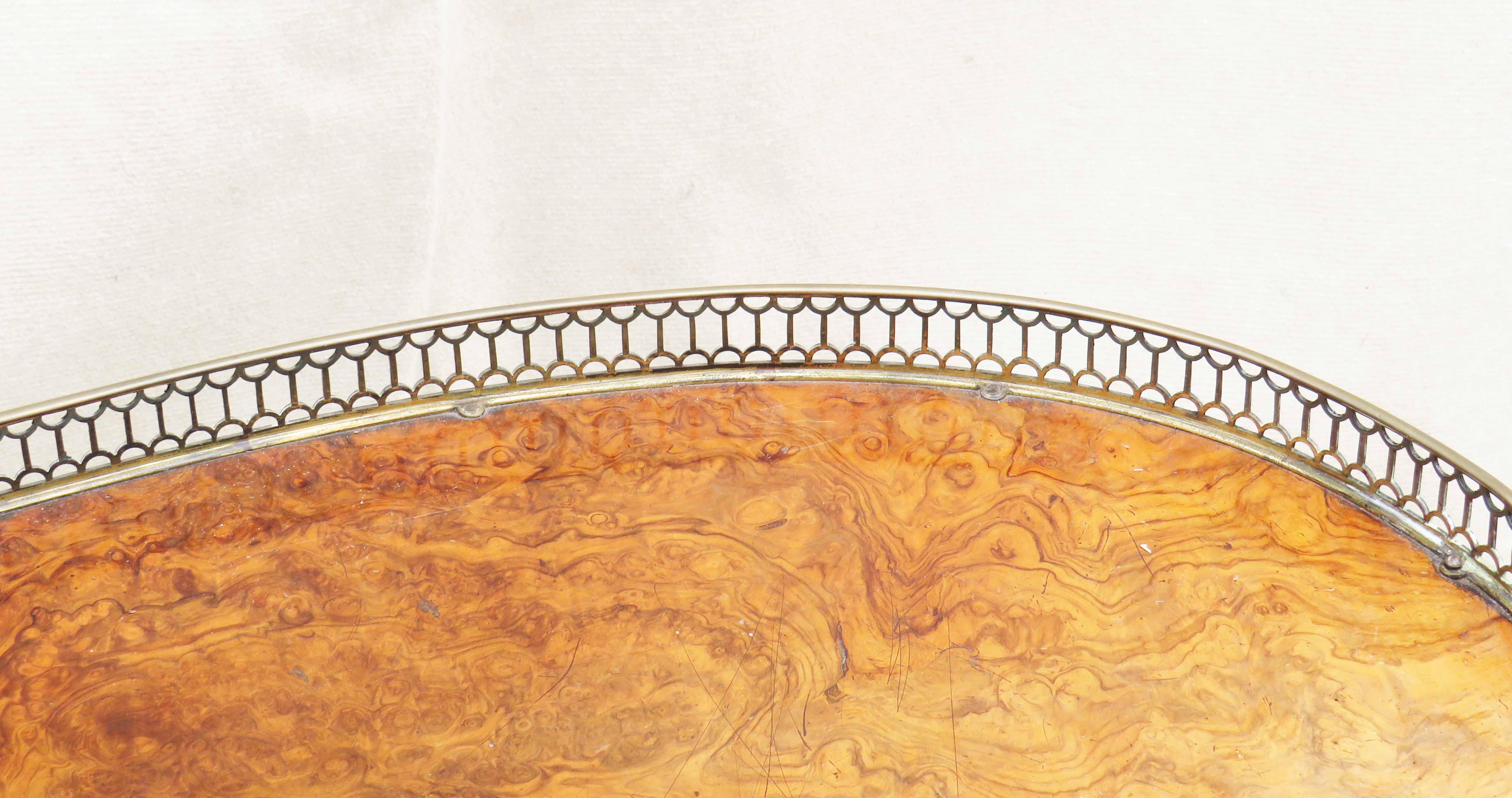Walnut Kidney Shaped Writing Table, English Mid 19th Century - Image 3 of 8