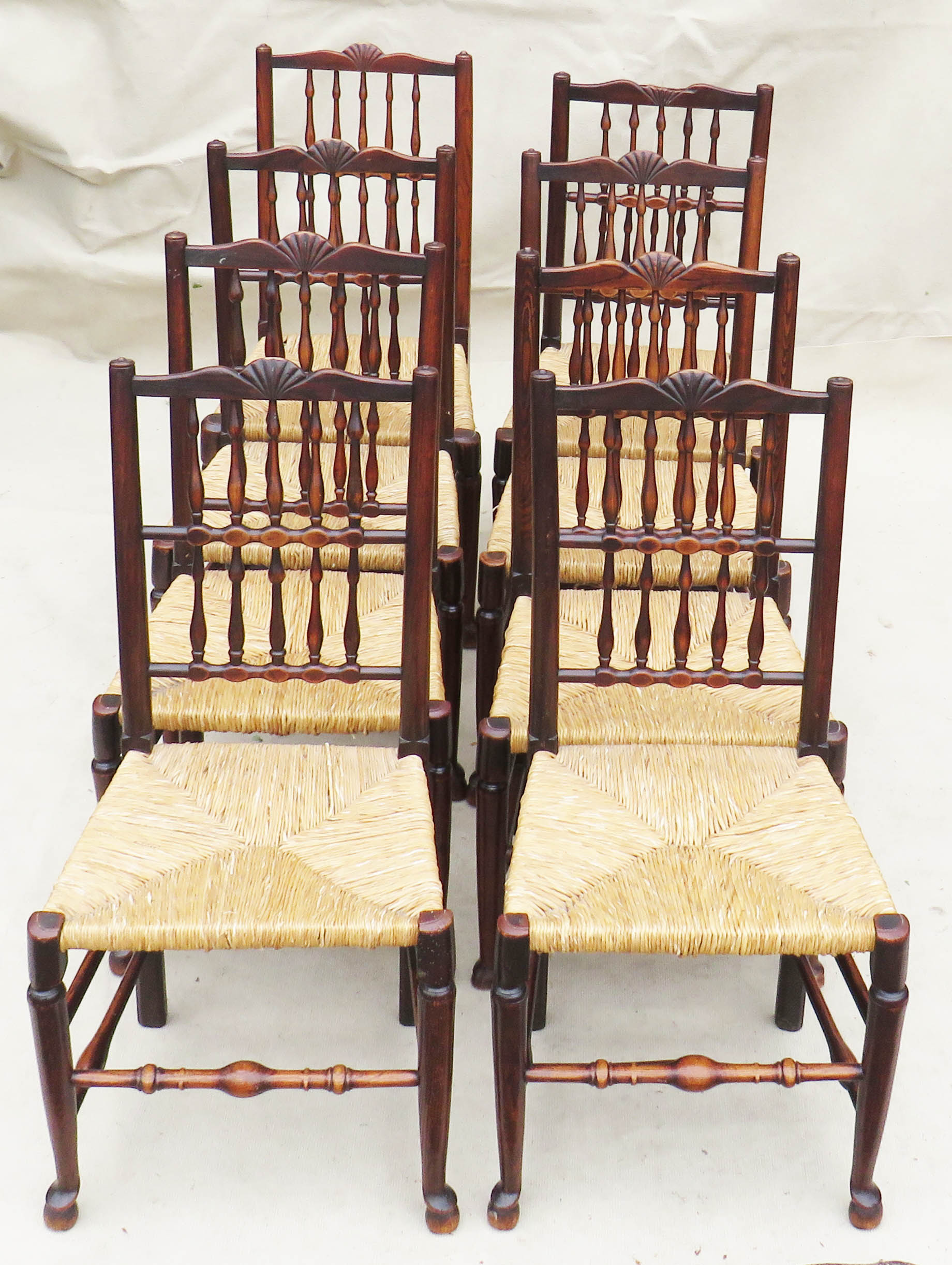 Matched Set Of 8 Spindle Back Dining Chairs, Early 19th Century - Image 2 of 12