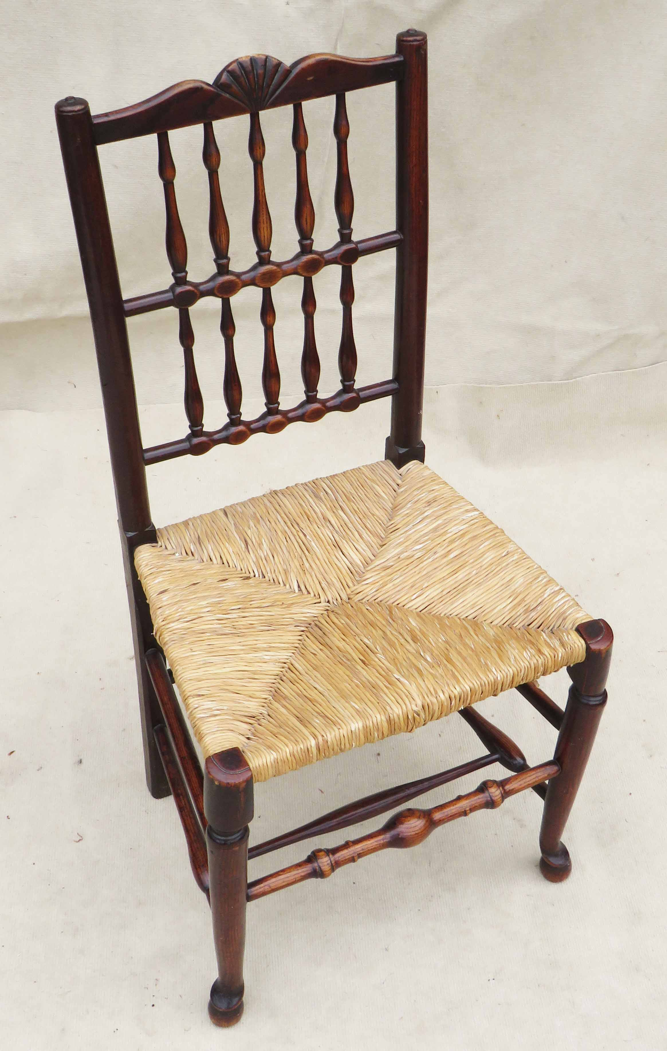 Matched Set Of 8 Spindle Back Dining Chairs, Early 19th Century - Image 10 of 12