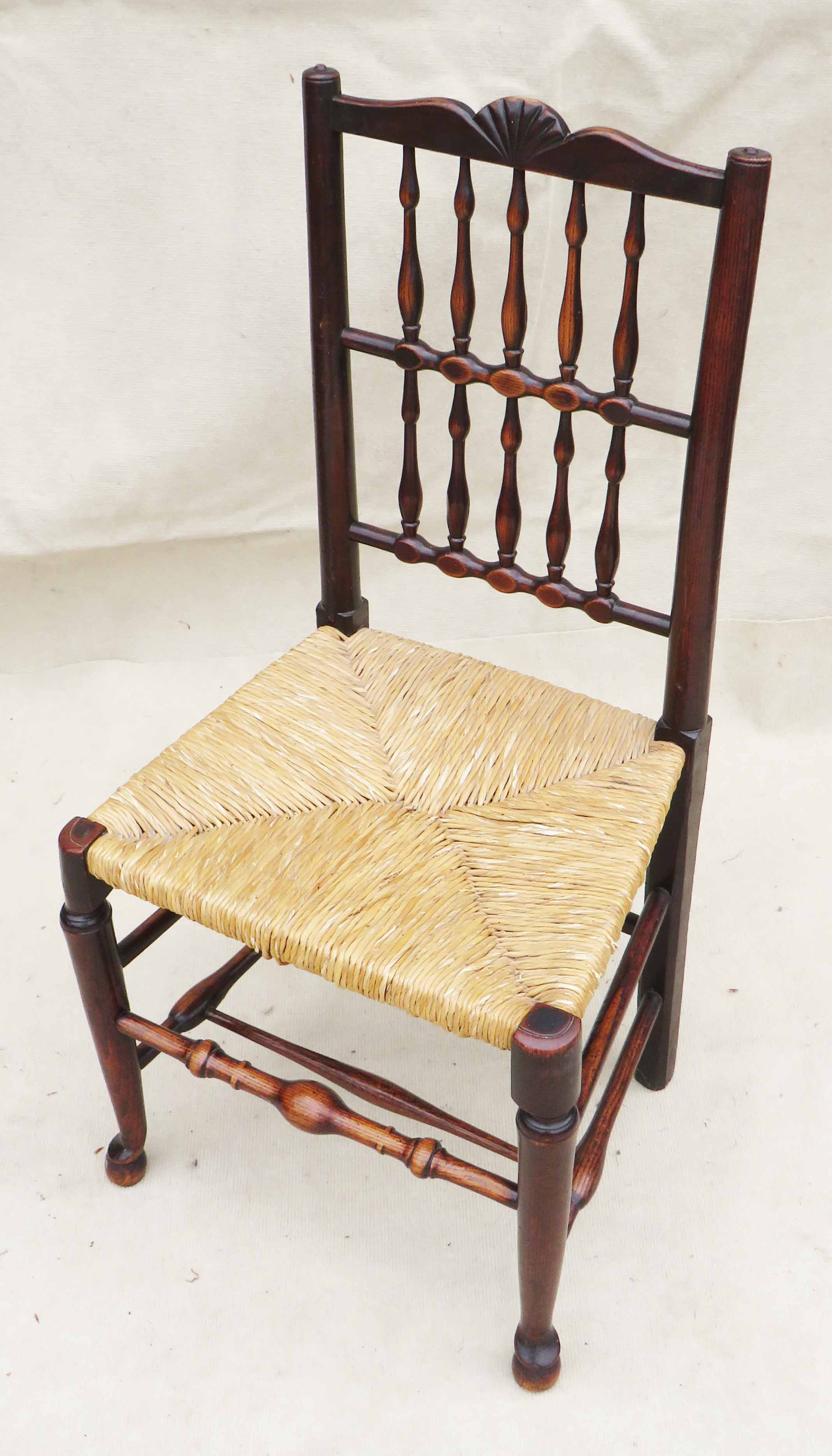 Matched Set Of 8 Spindle Back Dining Chairs, Early 19th Century - Image 9 of 12