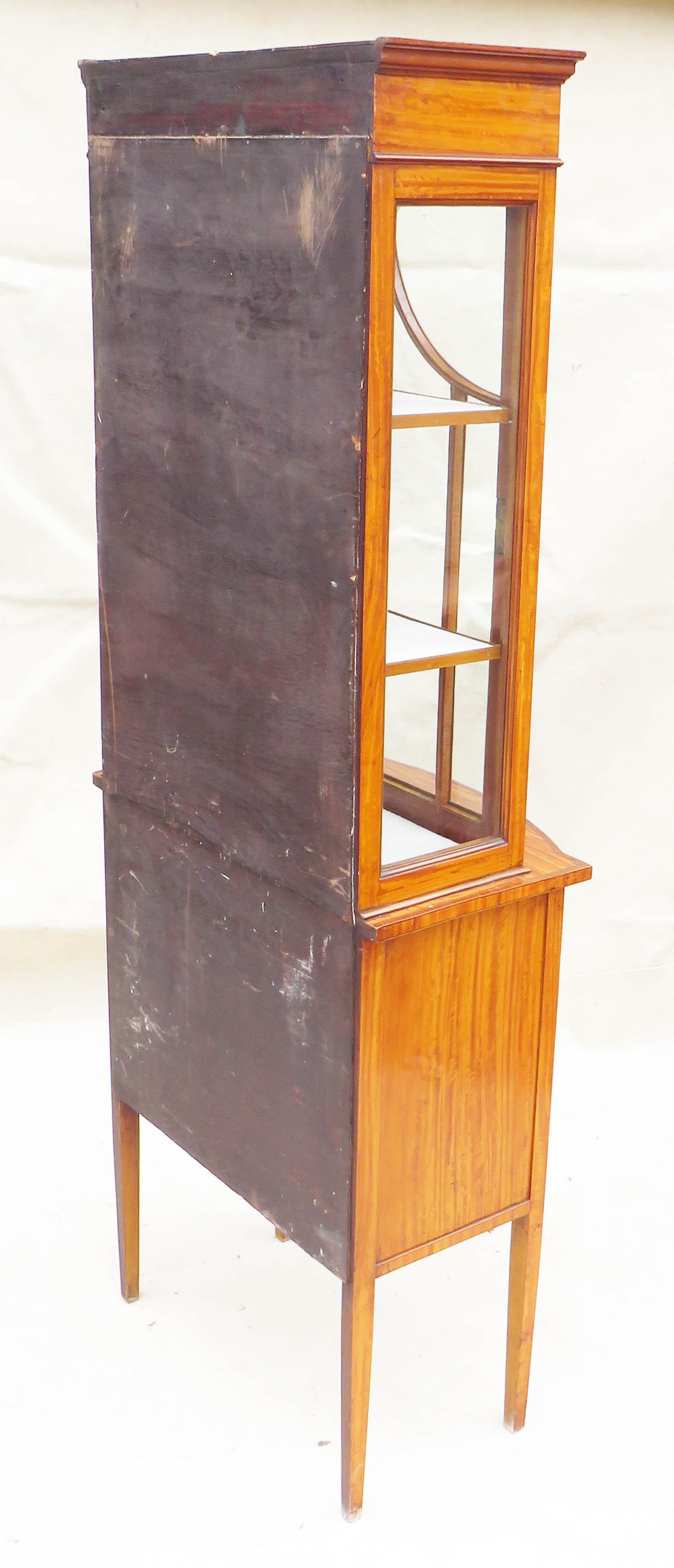 Satinwood China Display Cabinet, Late 19th Century - Image 8 of 10