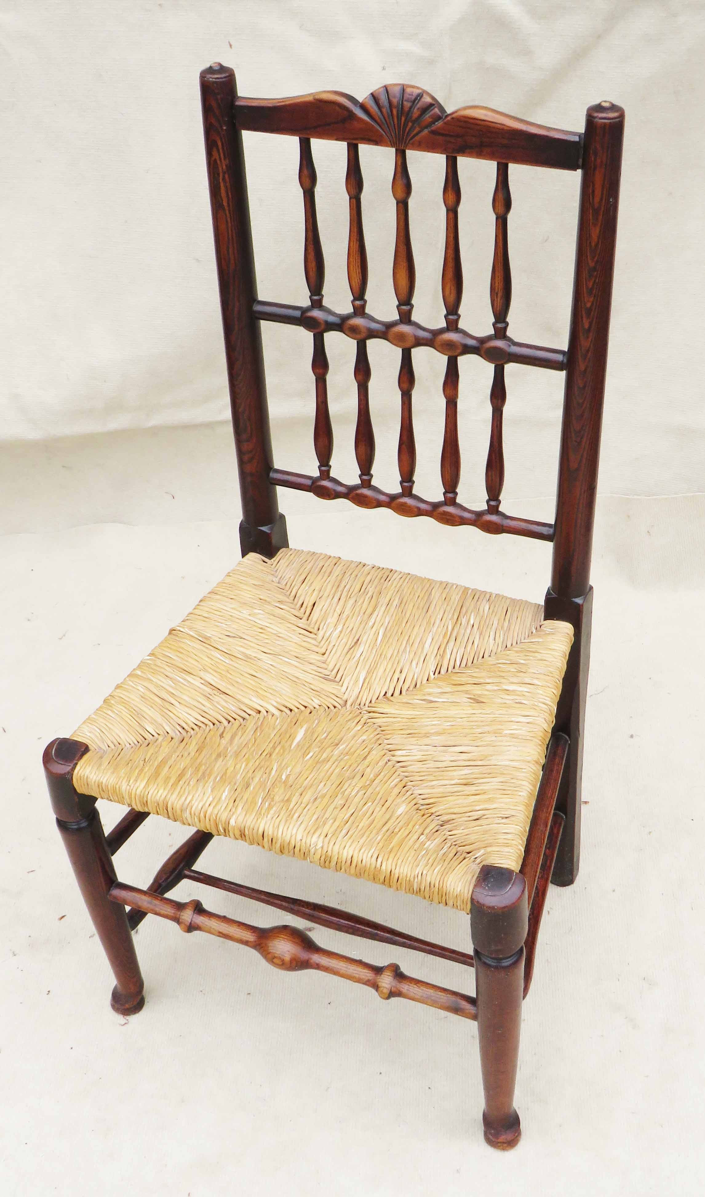 Matched Set Of 8 Spindle Back Dining Chairs, Early 19th Century - Image 7 of 12