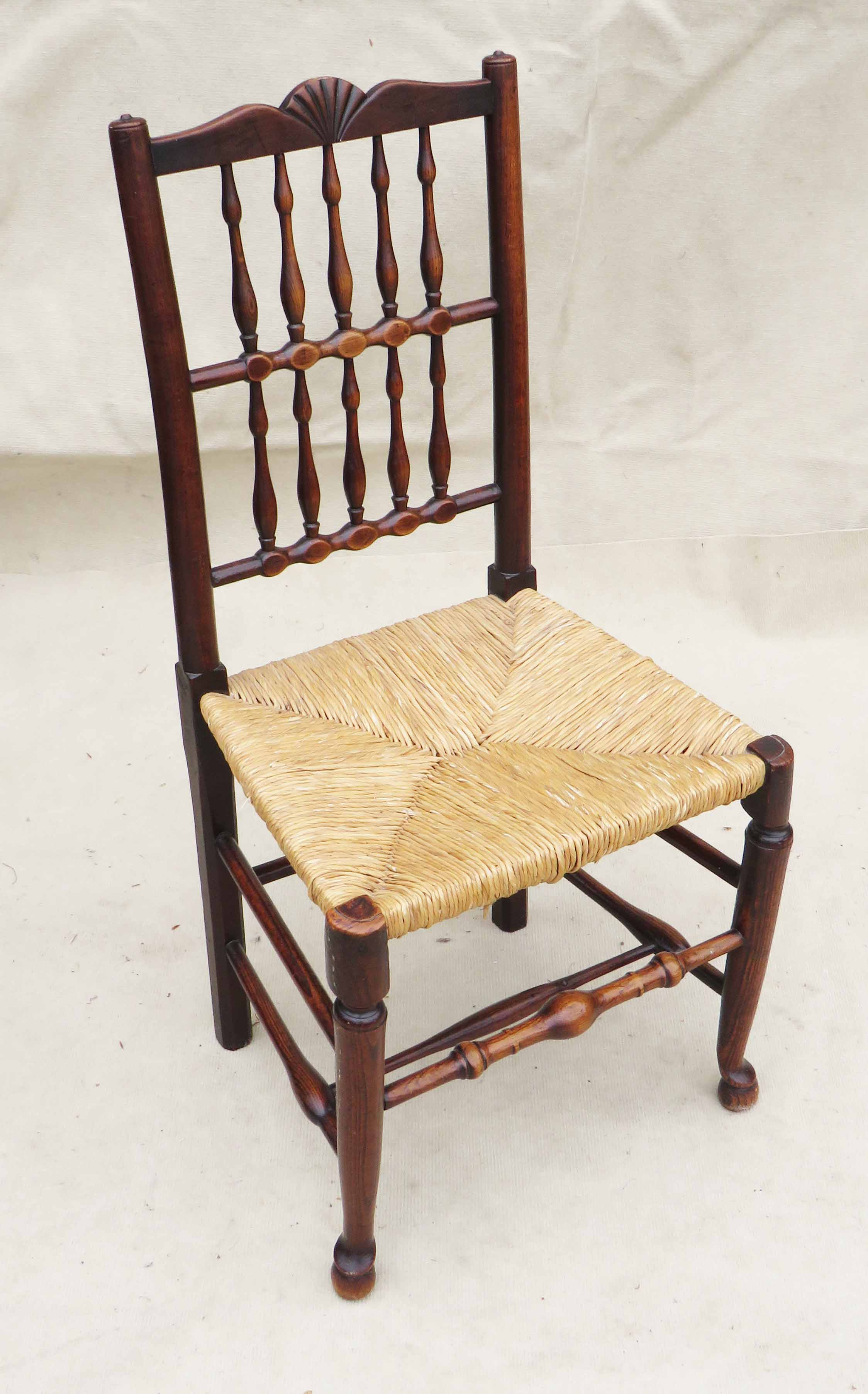 Matched Set Of 8 Spindle Back Dining Chairs, Early 19th Century - Image 4 of 12