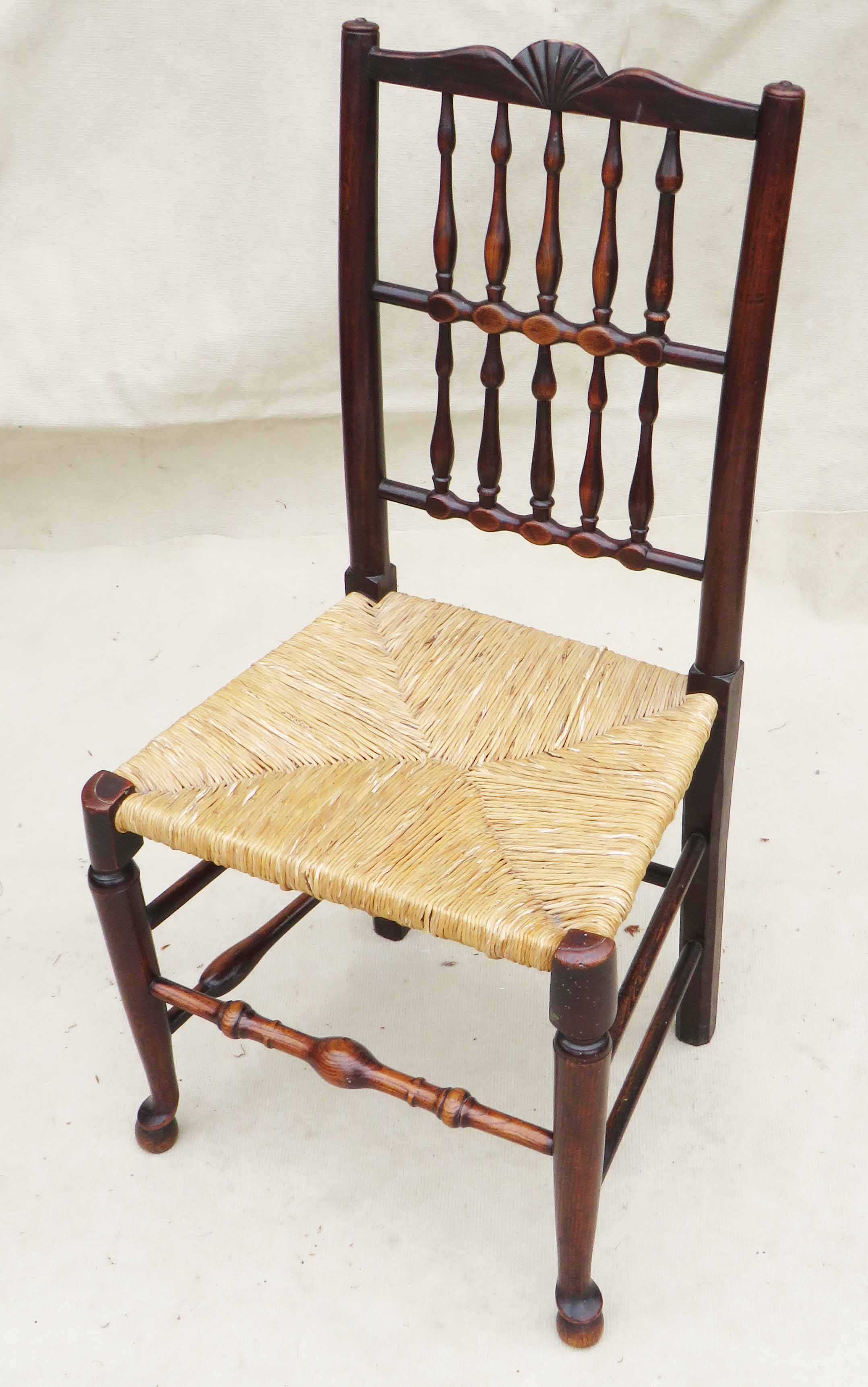 Matched Set Of 8 Spindle Back Dining Chairs, Early 19th Century - Image 5 of 12