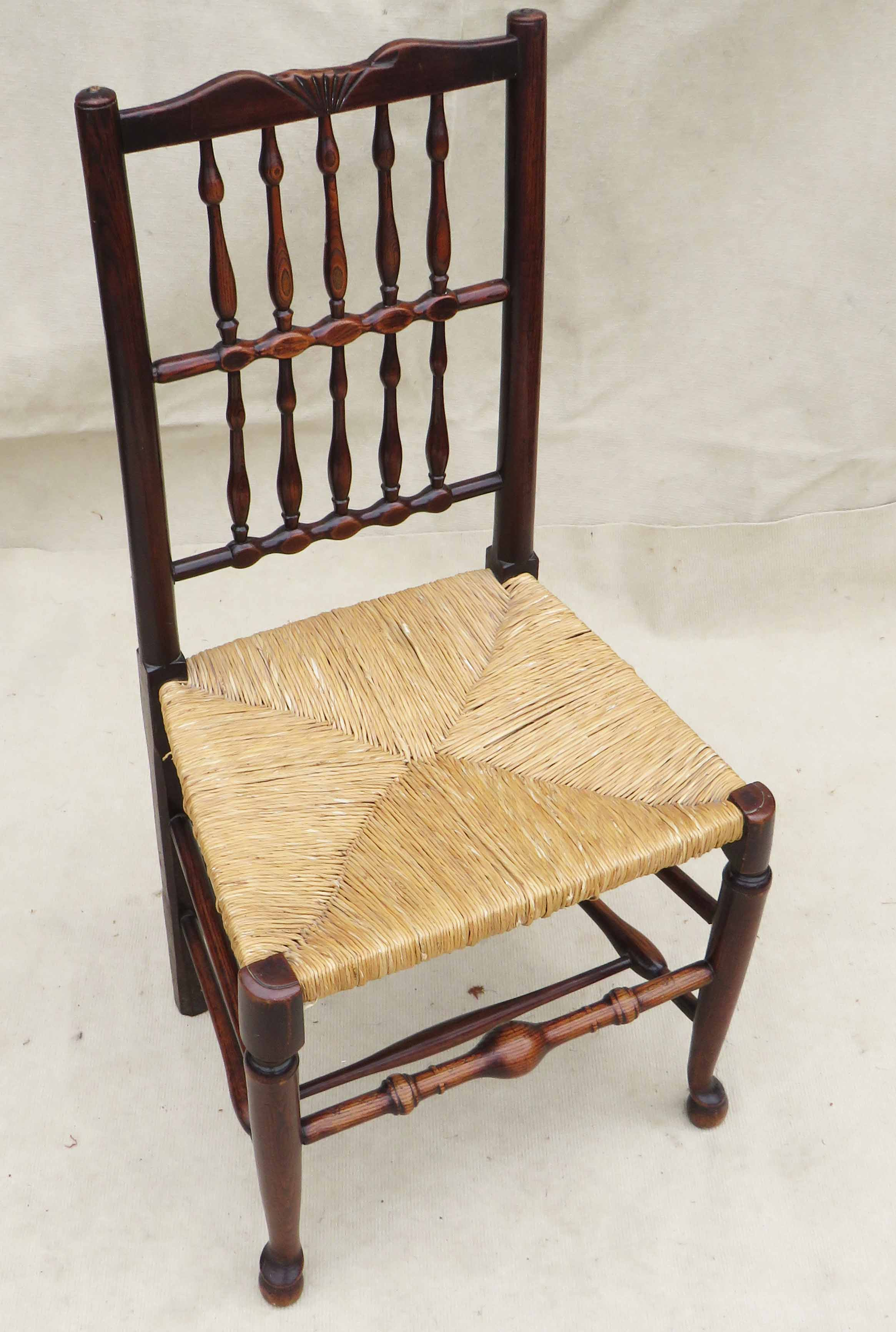 Matched Set Of 8 Spindle Back Dining Chairs, Early 19th Century - Image 8 of 12