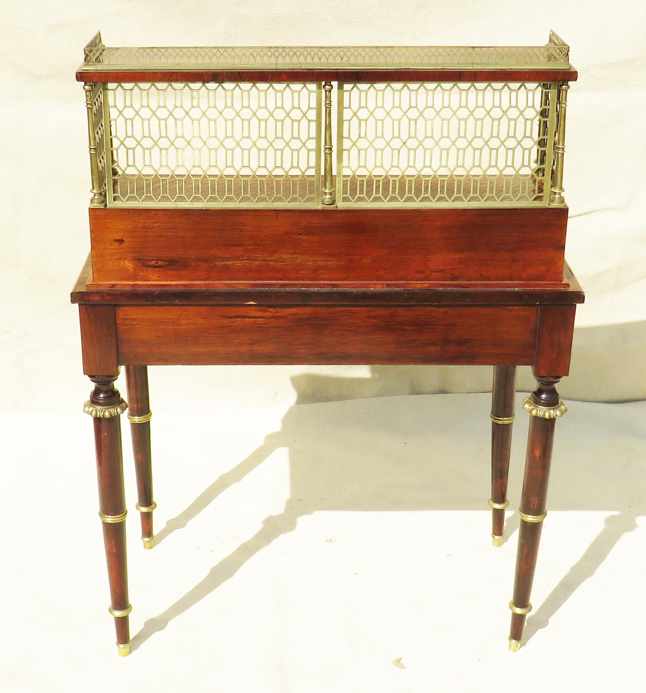 Superb quality Regency period early 19th Century rosewood bonheur du jour - Image 6 of 7